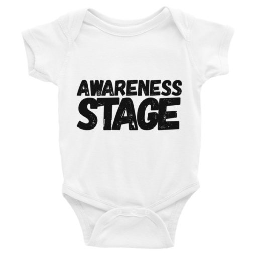 Awareness Stage Short Sleeve Baby Onesie – Light