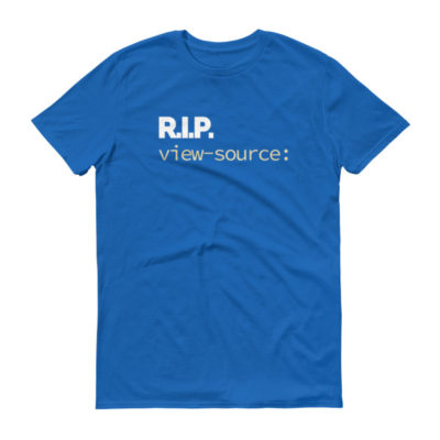 RIP view-source: Men's T-Shirt