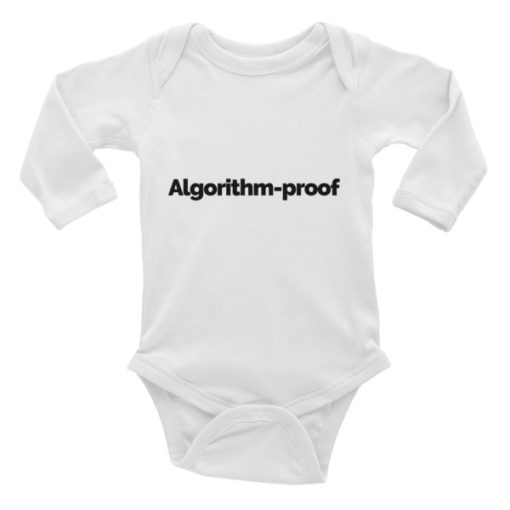 Algorithm-proof Long-sleeve Baby Onesie – Light