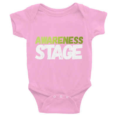 Awareness Stage Short Sleeve Baby Onesie – Dark