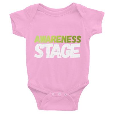 Awareness Stage Short Sleeve Baby Onesie – Dark